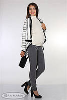 Прямые брюки Lera на живот (серый)