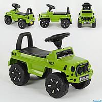 Машина-Толокар 808 G-8001 JOY зеленая, свет звук, багажник
