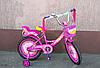Велосипед детский двухколёсный 14 дюймов Azimut Girls розовый  ***
