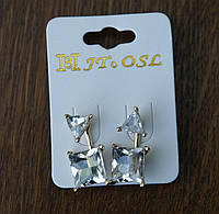 Классные серьги, пусеты с кристаллами- бижутерия RRR- серьги пусеты стиля Dior. 240