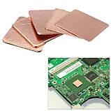 Термопрокладка медная 15х15mm 0.8mm пластина термопаста термоинтерфейс для ноутбука радиатор, фото 3