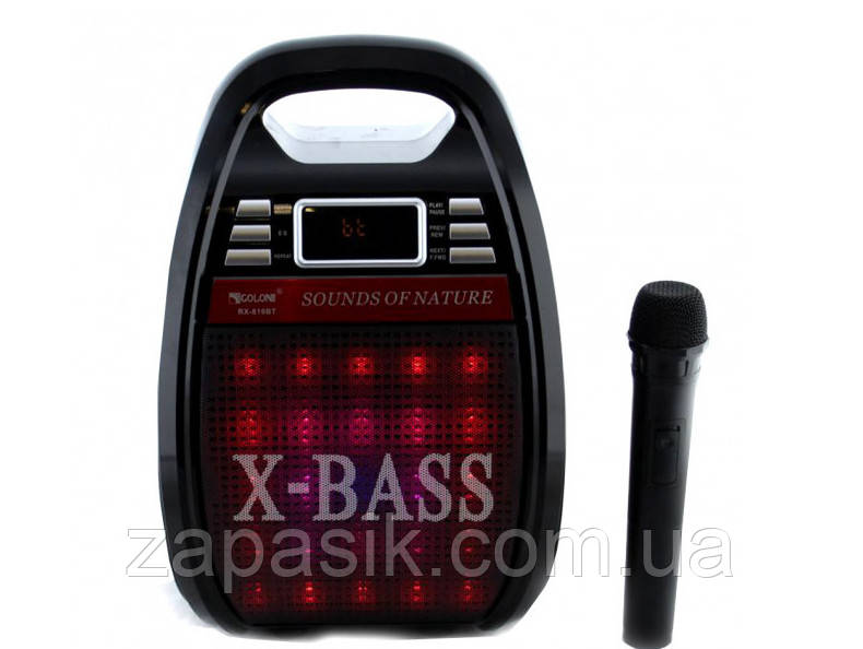 Акустическая Система GOLON RX-810 BT Колонка Комбоусилитель Bluetooth MP3 Радиомикрофон Пульт Светомузыка