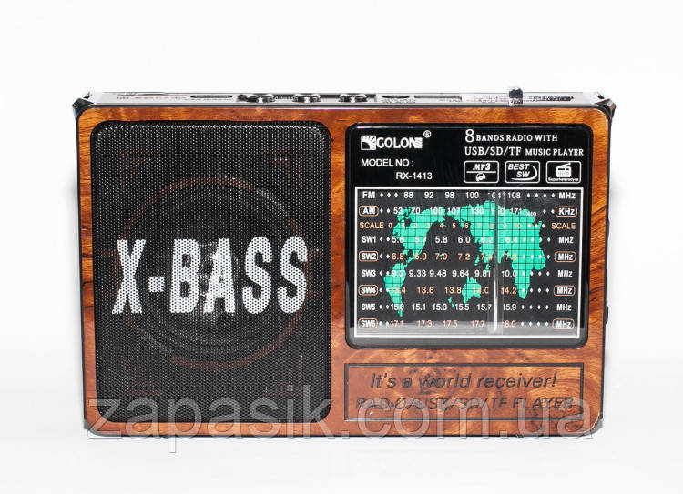 Радио Радиоприемник GOLON RX-1413 С Фонарем