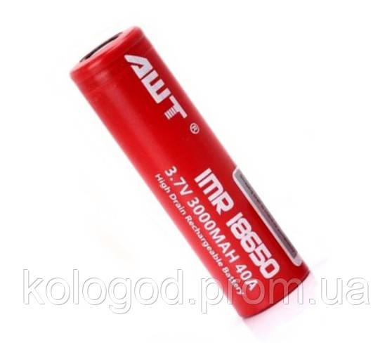 Батарейка Battery 18650 AWT Red Для Сигарет Цена За 2 Штуки