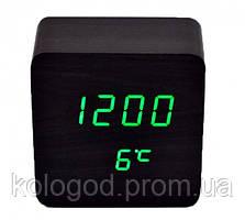 Настільні Електронні Годинники LED Wooden Clock VST 872