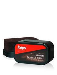 Губка для обуви, Коричневая Kaps Brown Perfect Shine