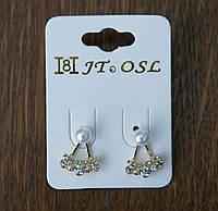 Миниатюрные серьги пусеты - бижутерия RRR- серьги пусеты стиля Dior. 242
