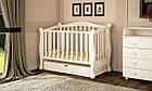 Детская кроватка Prestige 8 маятник ваниль, фото 5