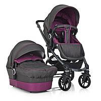 Детская коляска-трансформер 2в1 El Camino B-move ME 1021-9 Серый/Фиолетовый