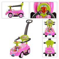 Детская каталка-толокар Bambi Q 07-3-8 Розовый/Зеленый
