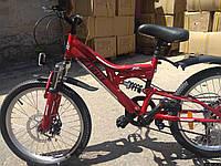 Спортивный горный велосипед Аzimut Blackmount FR/D 20 дюймов Вишневый