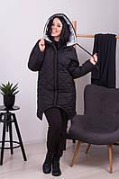Куртка зимняя Черная Большого размера