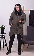 Куртка зимняя Хаки Большого размера