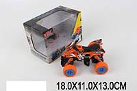 Квадроцикл металл 1:32 MY66-Y1104 (1651414) pull back, в коробке 18*11*13см