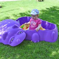 Детская песочница-бассейн HIPPO POOL WITH COVER 18-518 Бегемот