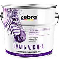 Эмаль ZEBRA алкидная ПФ-116 серия Акварель 888 темно-коричневый глянец 0,25кг