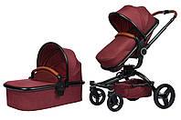 Универсальная коляска 2в1 Miqilong V baby X159 Dark red (X159-05)