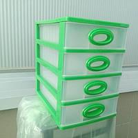 Комод мини 4 яруса цвет - зеленый