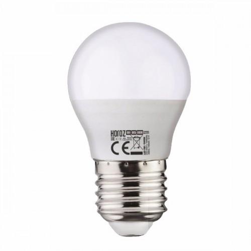 LED лампа кулька G-45 10W 3000K E-27 Horoz