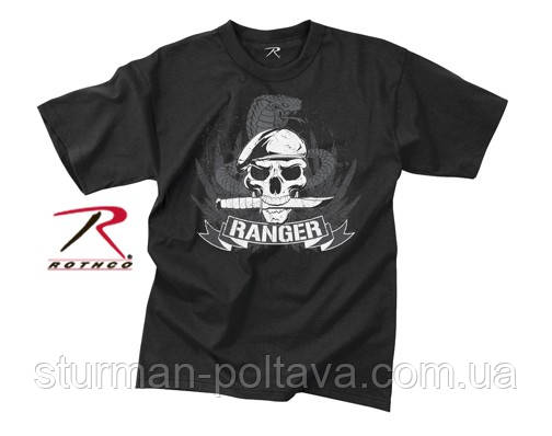 Футболка Rothco  рейнжер   с принтом VINTAGE BLACK RANGER T-SHIRT