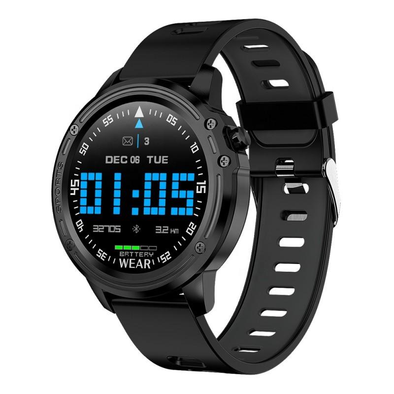 Смарт-часы Microwear L8 с функцией тонометра - Черный