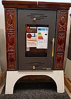 Каминофен - кафельная печь камин на  дровах Haas+Sohn Empoli Коричневая., фото 1