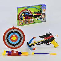 Арбалет мишень, стрелы-присоски, лазерный прицел, в дисплее - 218671