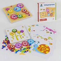 Деревянная игра Мозаика с Цветными карточками и шестеренками - 182124