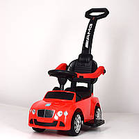 Детская каталка-толокар M 3901 L-3 Bentley, кожаное сиденье, красная