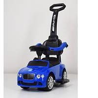 Детская каталка-толокар M 3901 L-4 Bentley, кожаное сиденье, синяя