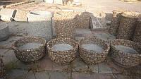 Цветочница Оріон 500х400мм. с вымытова бетона с гранита, гальки, базальта