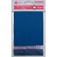 Набор темно-синих заготовок для открыток 1 ВЕРЕСНЯ 10см*15см, 230г/м2