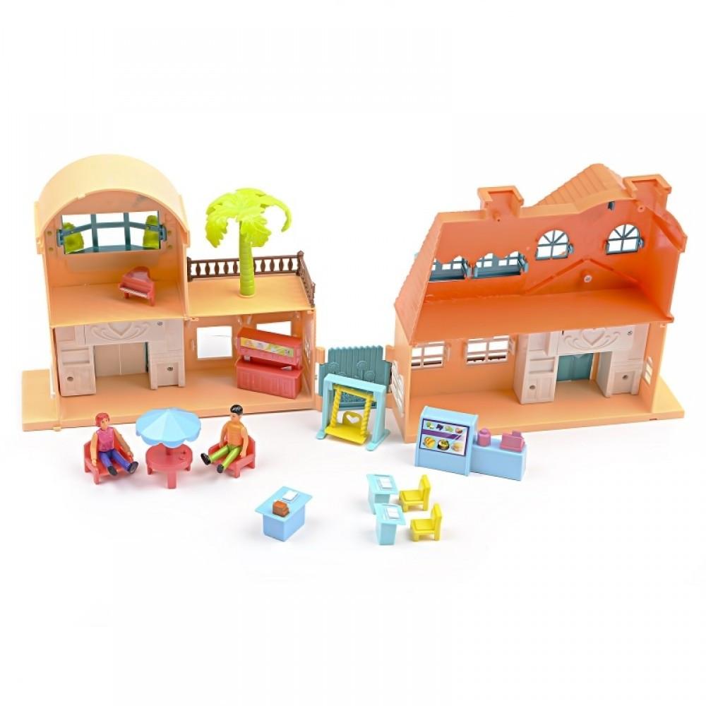 IM434 Кукольный домик ресторан фигурки