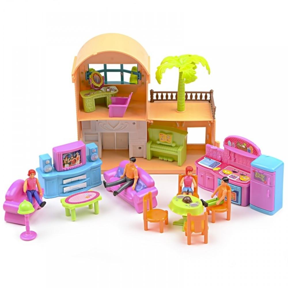 IM433 Кукольный домик ресторан фигурки