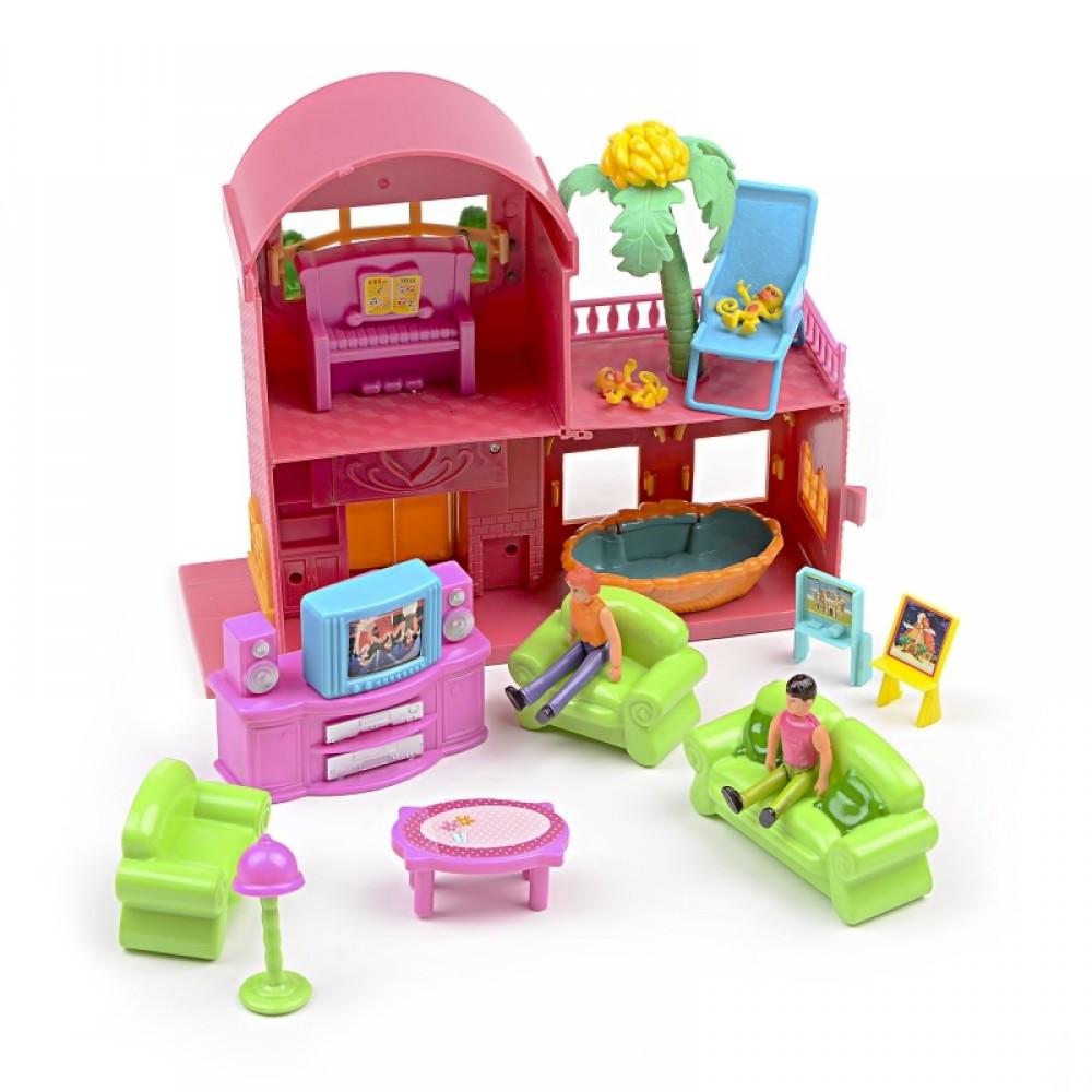 IM421 Домик для кукол Мебель игрушка фигурки