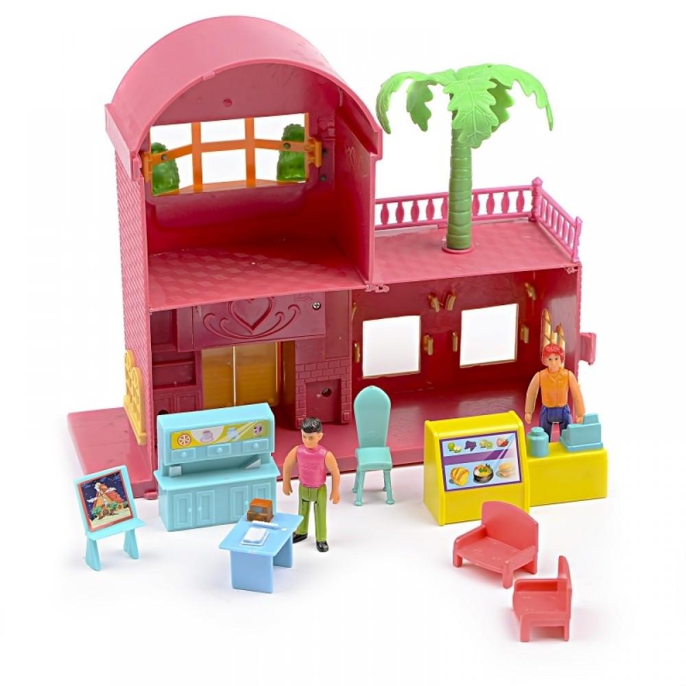 IM445 Кукольный домик ресторан фигурки