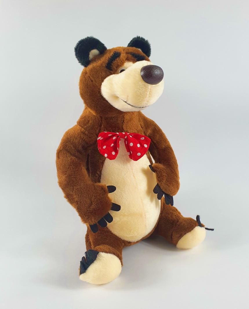Мягкая, музыкальная, игрушка, мишка, с мультика, Маша и медведь 29 см