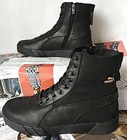 Puma хіт! жіночі зимові шкіряні кеди високі кросівки черевики з хутром великого розміру