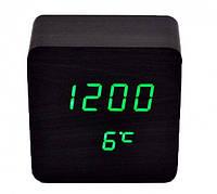 Настольные Электронные Часы LED Wooden Clock VST 872, фото 1