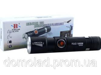 Фонарик BL 616 T6 USB Тактический Фонарик На Аккумуляторе