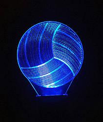3d-світильник Волейбольний м'яч, 3д-нічник, кілька підсвічувань (на батарейці)