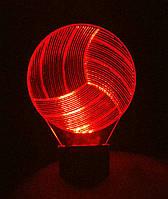 3d-светильник Волейбольный мяч, 3д-ночник, несколько подсветок (на пульте)