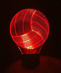 3d-світильник Волейбольний м'яч, 3д-нічник, кілька підсвічувань (на пульті)