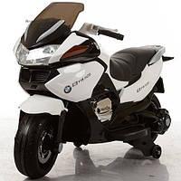 Детский мотоцикл BMW на аккумуляторе M 3282EL-1, кожаное сиденье, белый