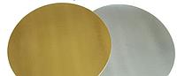 Подложка ламинированная двухсторонняя серебро/золото круг 28 см