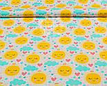 """Лоскут ткани """"Солнышко с сердечком и облаком"""" на белом фоне № 914а, фото 5"""
