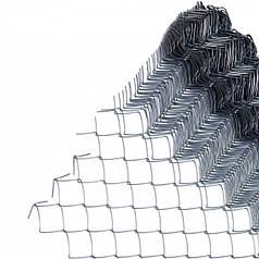 Сетка рабица 50*50 оцинк 1,5 мм, 1,5*10м