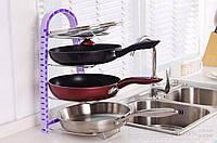 Подставка для сковородок, крышек, тарелок, кастрюль (Сиреневый), Підставка для сковорідок, кришок, тарілок, каструль (Бузковий)