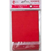 Набор красных заготовок для открыток 1 ВЕРЕСНЯ 10см*15см, 230г/м2