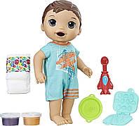 Baby Alive Интерактивная кукла пупс супер перекус мальчик Люк брюнет Super Snacks Snackin